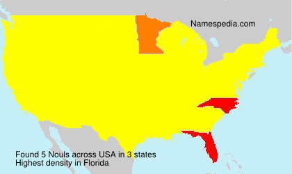 Surname Nouls in USA