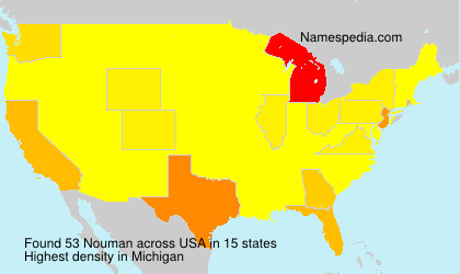 Surname Nouman in USA