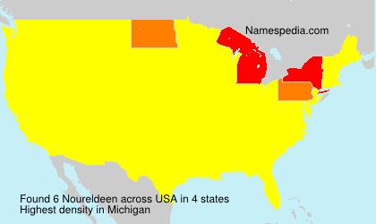 Familiennamen Noureldeen - USA