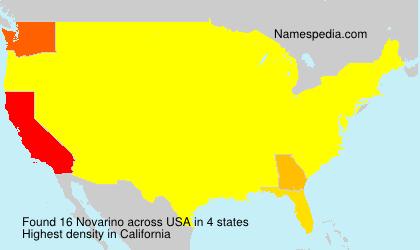 Surname Novarino in USA