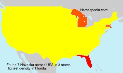 Surname Noveska in USA