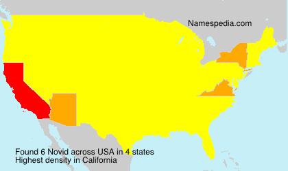 Surname Novid in USA