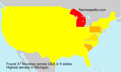 Surname Noviskey in USA