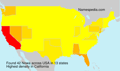 Surname Nowa in USA