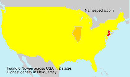 Surname Nowen in USA