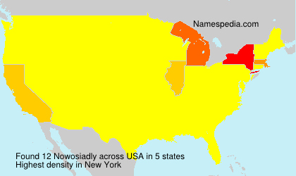 Surname Nowosiadly in USA