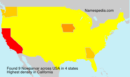 Surname Nowparvar in USA