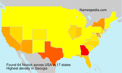 Surname Nozick in USA