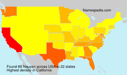 Surname Nquyen in USA