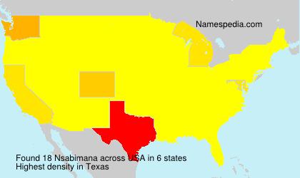 Familiennamen Nsabimana - USA