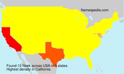 Familiennamen Nsek - USA