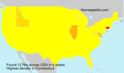 Surname Nta in USA