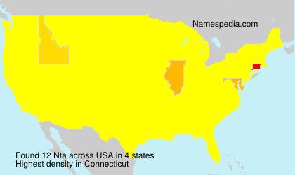 Surname Nta in USA