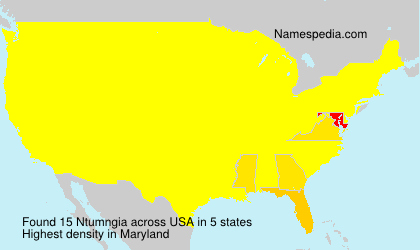 Surname Ntumngia in USA