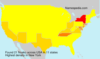Surname Nuako in USA