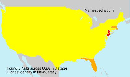 Surname Nubi in USA