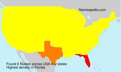 Surname Nudalo in USA