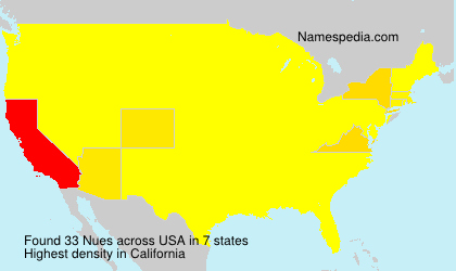 Surname Nues in USA