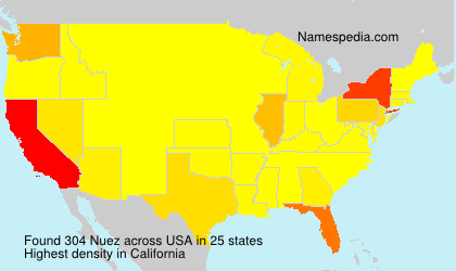 Surname Nuez in USA