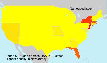 Surname Nugnes in USA