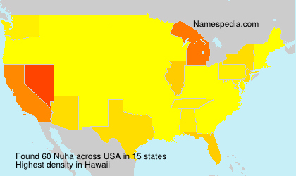 Surname Nuha in USA