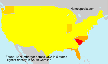 Surname Numberger in USA