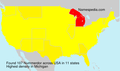 Surname Nummerdor in USA