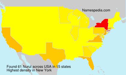 Surname Nurul in USA
