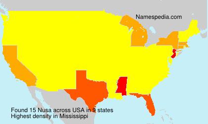 Familiennamen Nusa - USA