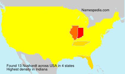 Familiennamen Nushardt - USA