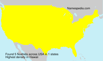 Surname Nushida in USA