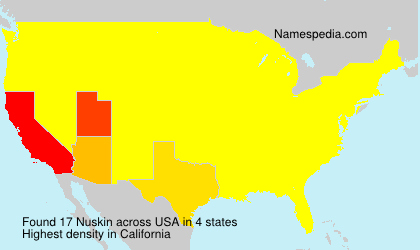 Surname Nuskin in USA