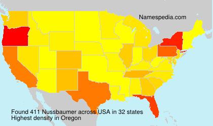 Surname Nussbaumer in USA