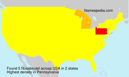 Familiennamen Nussbeutel - USA