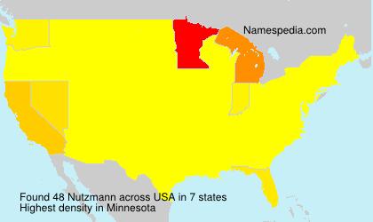 Familiennamen Nutzmann - USA
