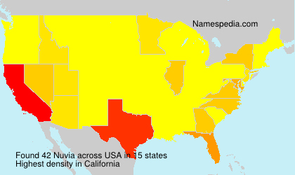 Surname Nuvia in USA