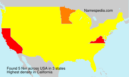 Surname Nvr in USA