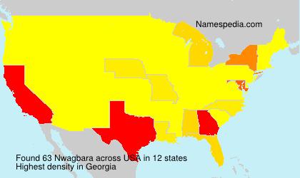 Familiennamen Nwagbara - USA