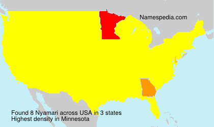 Surname Nyamari in USA