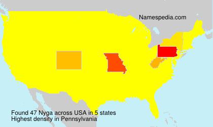 Surname Nyga in USA