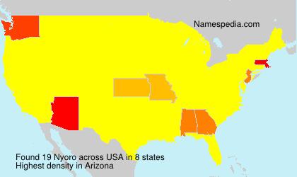 Familiennamen Nyoro - USA