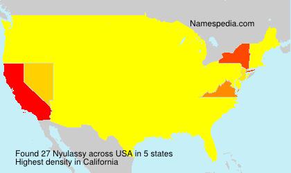 Familiennamen Nyulassy - USA