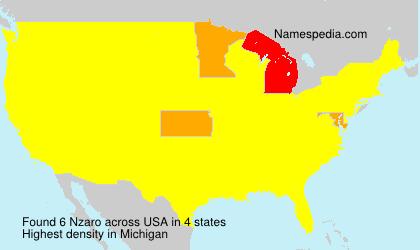 Familiennamen Nzaro - USA