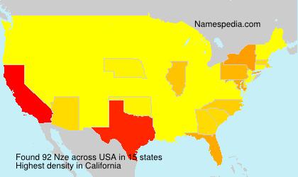 Familiennamen Nze - USA
