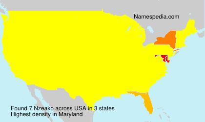 Familiennamen Nzeako - USA