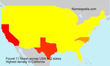 Familiennamen Nzewi - USA