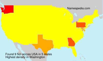 Familiennamen Nzi - USA
