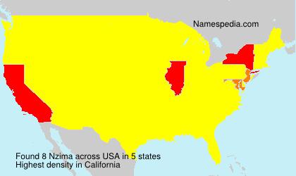 Familiennamen Nzima - USA