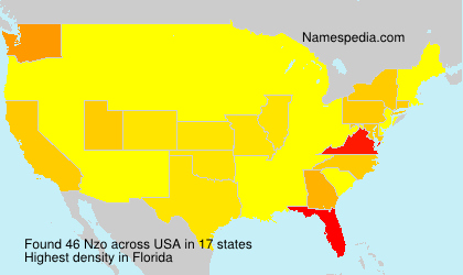 Familiennamen Nzo - USA