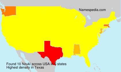 Familiennamen Nzuki - USA